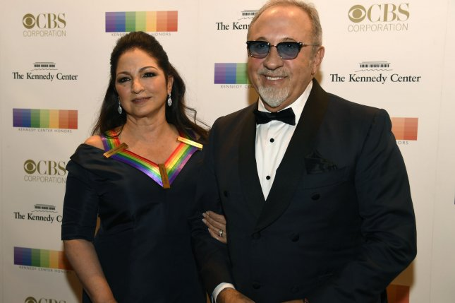 Kennedy Center honoree Gloria Estefan (L) and her husband, Emilio Estefan, arrive for the Kennedy Center Honors gala on December 3 in Washington, D.C. Gloria Estefan was an honoree last year and will host this year's edition of the event. File Photo by Mike Theiler/UPI