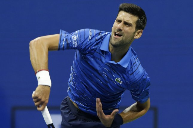 Novak Djokovic now has a record 36 Masters 1000 titles after his win in the 2020 Italian Open final Monday in Rome. File Photo by John Angelillo/UPI