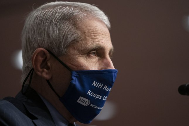 Anthony Fauci, director of the National Institute of Allergy and Infectious Diseases, said on Friday that he sees similarities between the fight against COVID-19 and HIV. Pool Photo by Alex Edelman/UPI