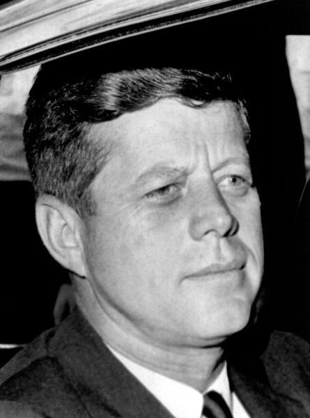 President John F. Kennedy is seen here in this August 9, 1963 file photo as he leaves the hospital at Otis Air Force Base in Massachusetts after flying there to be with his wife. Their son, Patrick died earlier that day just two days after he was born. (UPI/File)