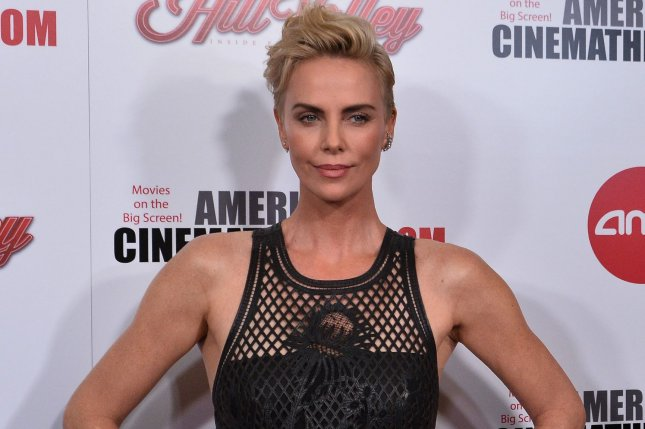 Actress Charlize Theron arrives for the 33rd annual American Cinematheque Awards gala in Beverly Hills on Friday.  Photo by Jim Ruymen/UPI