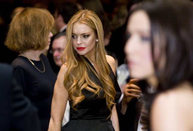 Lindsay Lohan attends the 2012 White House Correspondents Association Dinner held at the Washington Hilton on April 28, 2012 in Washington, DC. UPI/Kristoffer Tripplaar/Pool