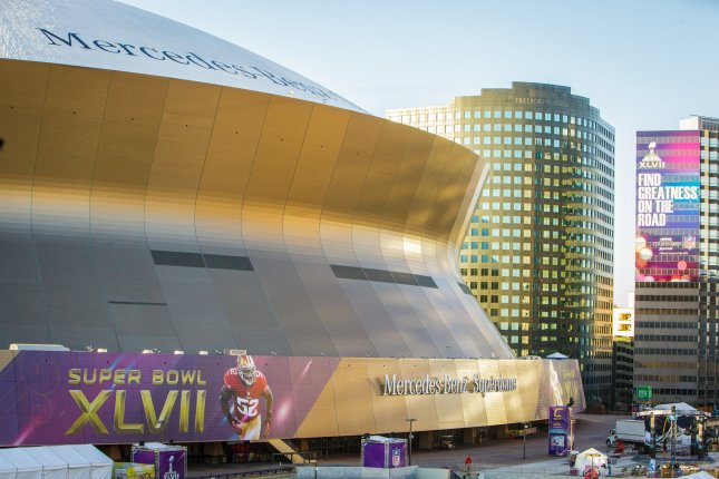 The New Orleans Mercedes- Benz Superdome waits for Super Bowl XLVII in New Orleans on January 30, 2013. The 49ers will play the Baltimore Ravens in Super Bowl XLVII on February 3, 2013. UPI/Bevil Knapp