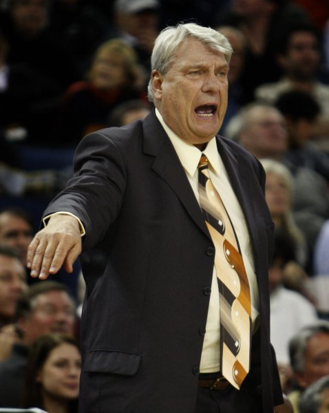 Don Nelson, shown coaching a game in January 2010, is among figures selected for enshrinement in September at the Basketball Hall of Fame, it was announced Monday. UPI/Terry Schmitt