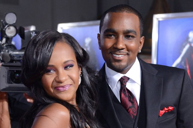 The late Bobbi Kristina Brown and then-boyfriend Nick Gordon attend the premiere of the motion picture drama Sparkle, in Los Angeles on August 16, 2012. Gordon was arrested this weekend for allegedly assaulting his current girlfriend in Florida two years after Brown's death. File Photo by Jim Ruymen/UPI
