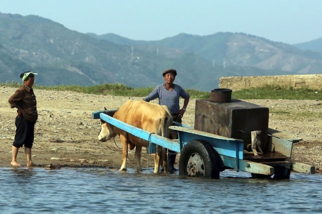 South Korea is moving to provide $8 million of aid to the North after Pyongyang claimed extreme weather conditions are damaging crops. File Photo by Stephen Shaver/UPI