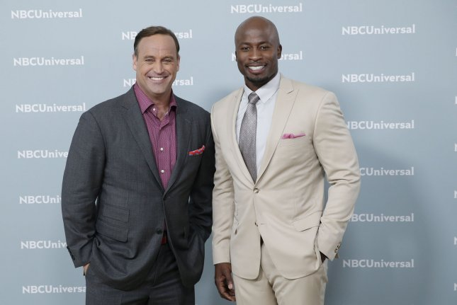 Matt Iseman and Akbar Gbaja-Biamila will return for Season 9 of American Ninja Warrior, slated to air on NBC this summer. File Photo by John Angelillo/UPI
