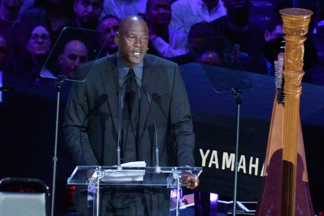 NBA legend Michael Jordan (pictured) said he was deeply saddened over the death of George Floyd, who died last week in Minneapolis after police officer Derek Chauvin kneeled on his neck. File Photo by Jim Ruymen/UPI