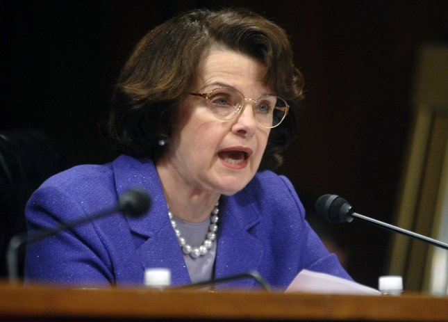 Sen. Diane Feinstein (D-CA) questions U.S. Attorney General Alberto Gonzales during a Senate Judiciary Committee hearing about his role in the controversial firing of eight U.S. attorneys, on Capitol Hill in Washington on April 19, 2007. (UPI Photo/Kevin Dietsch)