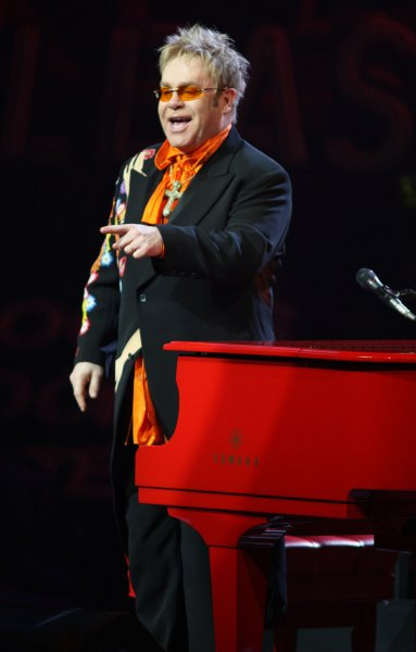 Elton John performs at Caesars Palace in Las Vegas, Nevada on June 21, 2008. The iconic English pianist and Rock and Roll Hall of Famer was giving the 200th performance of his Red Piano Tour. (UPI Photo/Daniel Gluskoter)