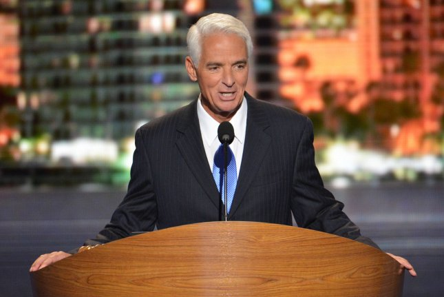Charlie Crist, Jr., former governor of Florida, speaks at the 2012 Democratic National Convention after switching parties. (UPI/Kevin Dietsch)