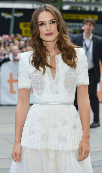 Keira Knightley arrives for the Toronto International Film Festival premiere of 'The Imitation Game' at the Princess of Wales Theatre in Toronto, Canada on September 9, 2014. UPI/Christine Chew