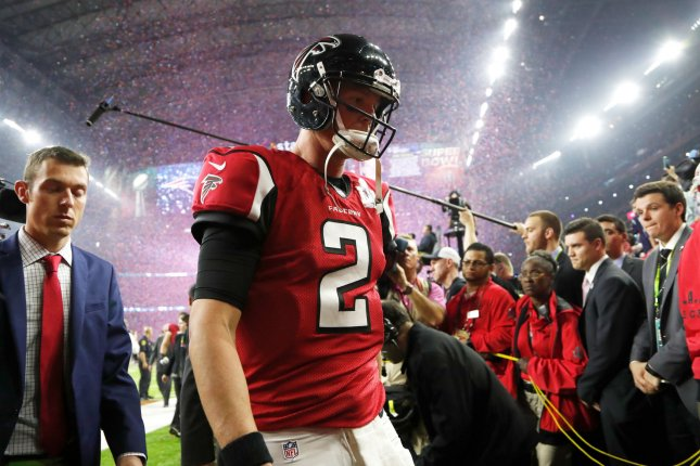 Quarterback Matt Ryan and the Atlanta Falcons blew a 28-3 lead to the New England Patriots in Super Bowl LI in February. Photo by John Angelillo/UPI
