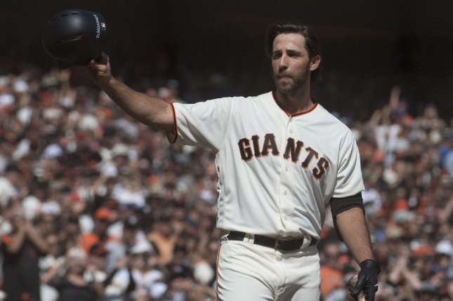 Madison Bumgarner posted a 3.90 ERA in a league-high 34 starts last season for the San Francisco Giants. Photo by Terry Schmitt/UPI