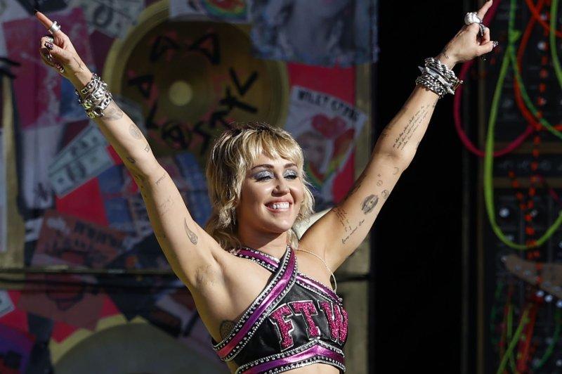 Miley Cyrus will headline Summerfest music festival in Milwaukee in September. File Photo by John Angelillo/UPI