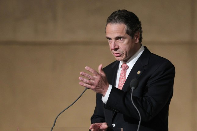 New York Gov. Andrew Cuomo speaks during the dedication ceremony at the National September 11 Memorial Museum in New York, May 15, 2014. The Democratic governor recently issued a letter to insurance companies mandating coverage of gender reassignment surgery. UPI/John Munson/Pool