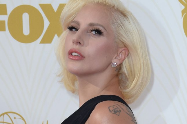 Lady Gaga arrives at the 67th Primetime Emmy Awards at the Microsoft Theater in Los Angeles on Sept. 20, 2015. The recording artist has been named this year's Billboard Woman of the Year. Photo by Jim Ruymen/UPI