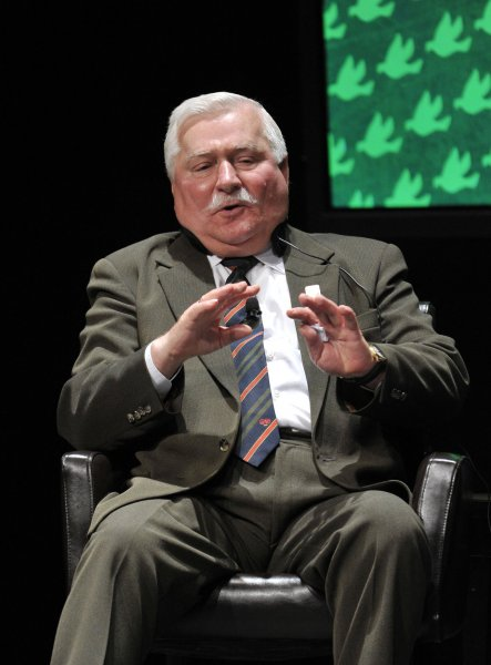 Former Polish President Lech Walesa, here in 2012, was allegedly a paid Communist informant, new evidence seized by Poland's National Remembrance Institute alleges. File Photo by Brian Kersey/UPI