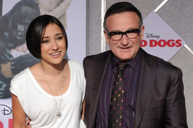 Actor Robin Williams attends the premiere of his new motion picture comedy Old Dogs with his daughter Zelda Williams in Los Angeles on November 9, 2009. Zelda is to star in Lifetime's Girl in the Box TV movie, airing on Sept. 10. File Photo by Jim Ruymen/UPI
