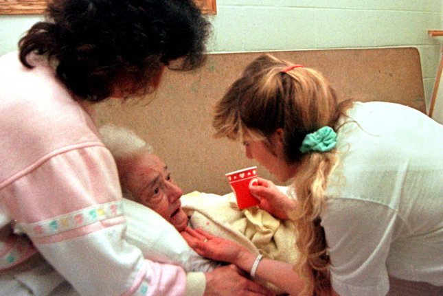 Fewer than 60% of staff at long-term care facilities nationally are fully vaccinated against COVID-19, the CDC reports. File photo by Michael Williams/UPI