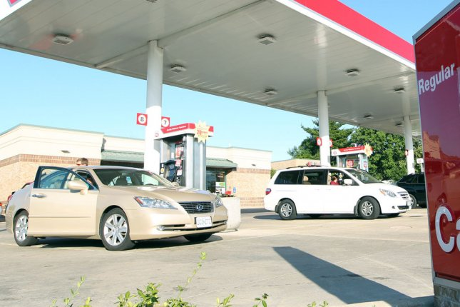 Consumer demand for gasoline increases as low oil prices make it cheaper to fuel up, industry report notes. File photo by Bill Greenblatt/UPI