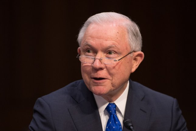 Attorney General Jeff Sessions and the Drug Enforcement Agency announced an order to schedule all fentanyl-related substances making anyone who who possesses, imports, distributes or manufactures them subject to prosecution. Photo by Kevin Dietsch/UPI