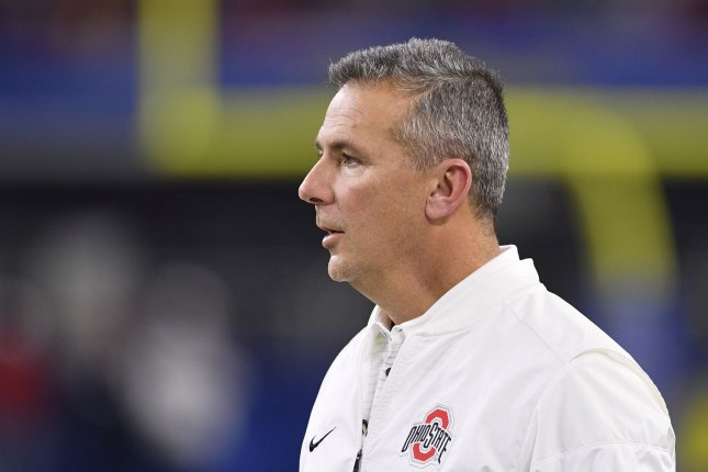 Ohio State Buckeyes head coach Urban Meyer looks on from the sidelines during the Goodyear Cotton Bowl Classic on December 29, 2017 at AT&T Stadium in Arlington, Texas. Photo by Shane Roper/UPI