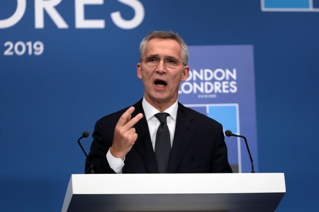 NATO Secretary General Jens Stoltenberg spoke of future objectives during a virtual conference of defense chiefs on Friday. File Photo by Hugo Philpott/UPI