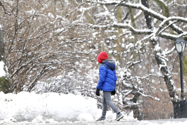 The system is expected to have far-reaching effects across the Rockies, portions of the Plains, Midwest and eastern Canada, as it unleashes accumulating snow and causes difficult travel along its long track.File Photo by John Angelillo/UPI