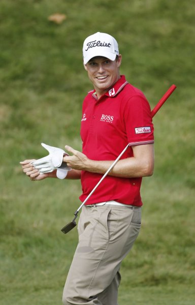 Nick Watney walks up the 9th fairway during the third round of the 92nd PGA Championship at Whistling Straits in Kohler, Wisconsin on August 14, 2010. UPI/Brian Kersey