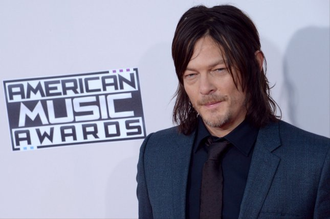 Actor Norman Reedus arrives for the 43rd annual American Music Awards in Los Angeles on November 22, 2015. Photo by Jim Ruymen/UPI