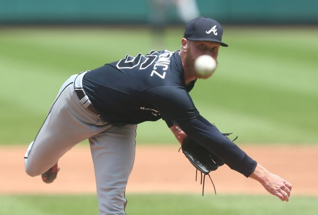 Mike Foltynewicz and the Atlanta Braves take on the New York Mets on Thursday. Photo by Bill Greenblatt/UPI