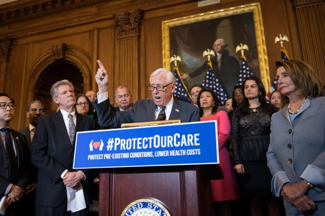 House Majority leader Steny Hoyer introduces the Protecting Pre-existing Conditions and Making Health Care More Affordable Act on March 26. It aims to protect coverage for pre-existing conditions, File Photo by Kevin Dietsch/UPI