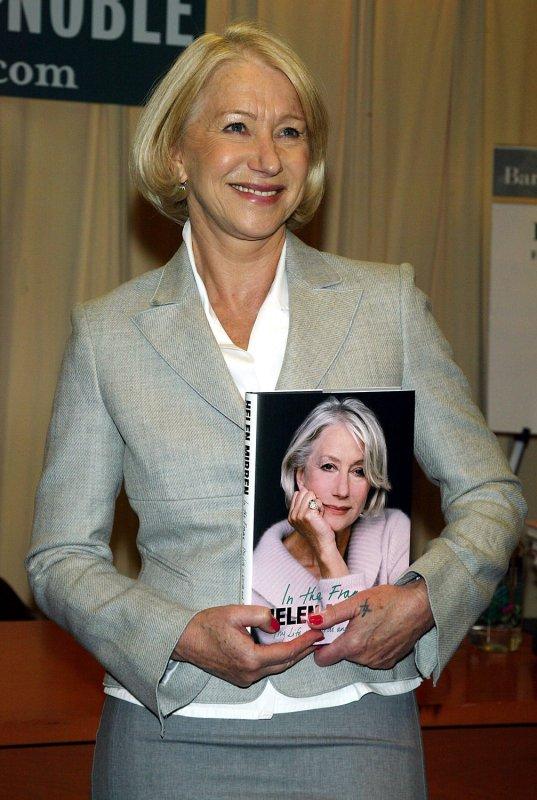File photo of Helen Mirren dated March 28, 2008. (UPI )hoto/Laura Cavanaugh)