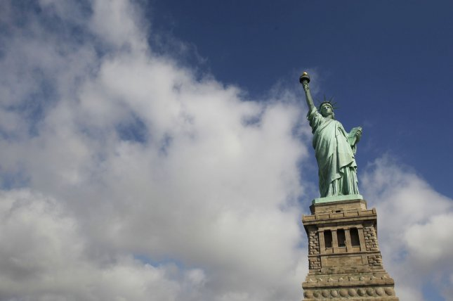 The Statue of Liberty and Liberty Island were evacuated Friday after a bomb threat. File photo by John Angelillo/UPI .