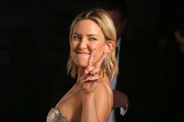 Kate Hudson at the Vanity Fair Oscar party on February 28. The actress is mom to 12-year-old Ryder and 4-year-old Bingham. File Photo by David Silpa/UPI