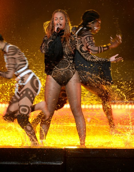 Beyonce performs Freedom standing barefoot in water onstage during the 16th annual BET Awards at Microsoft Theater in Los Angeles on Sunday night. Photo by Jim Ruymen/UPI