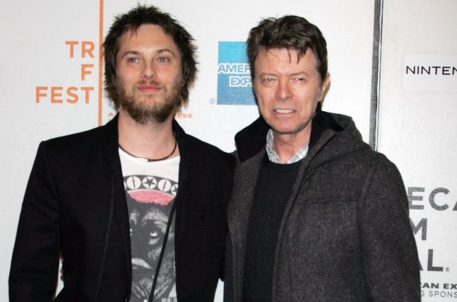 David Bowie and son Duncan Jones arrive for the Tribeca Film Festival premiere of Moon at the Tribeca Performing Arts Center/BMCC on April 30, 2009. File Photo by Laura Cavanaugh/UPI