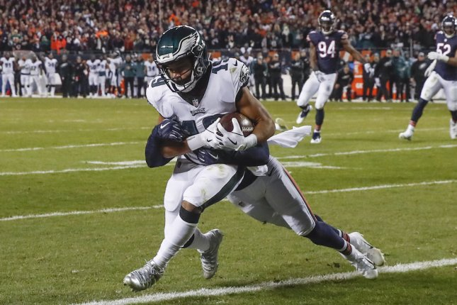 Former Philadelphia Eagles wide receiver Golden Tate (19) is a free agent this off-season. He joined the Eagles in a trade from the Detroit Lions in October. File Photo by Kamil Krzaczynski/UPI