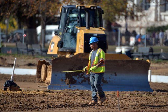 The construction sector slowed in March, a sign the U.S. job market may be weakening, experts say. File Photo by Kevin Dietsch