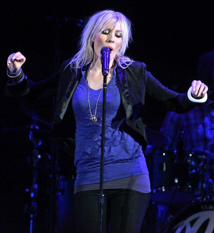Natasha Bedingfield performs in concert at San Diego State University's Cox Arena on November 25, 2008. (UPI Photo/Roger Williams)