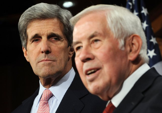 Senate Foreign Relations Committee Chairman John Kerry (D-MA) and Ranking Member Dick Lugar (R-IN) speak to the media after the Senate voted to invoke cloture on the new START treaty on Capitol Hill in Washington on December 21, 2010. UPI/Roger L. Wollenberg