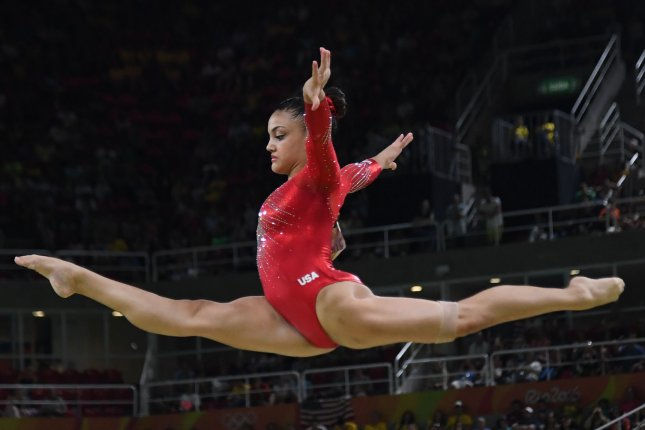 Dancing with the Stars contestant Laurie Hernandez is seen competing at the 2016 Rio Summer Olympics on August 15, 2016. File Photo by Terry Schmitt/UPI