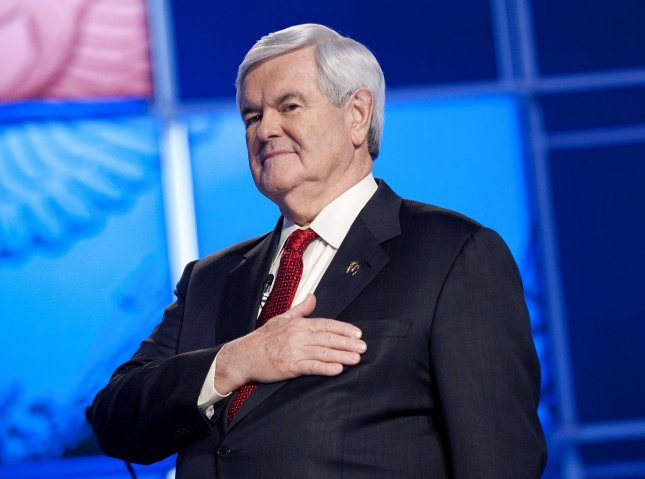 Republican Presidential candidate Newt Gingrich has won the South Carolina primary in a surprise victory over Mitt Romney. UPI/Kevin Dietsch