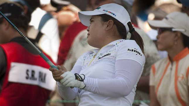 Korea's Inbee Park watches her tee shot on the first hole during the first round of the U.S. Women's Open at the Broadmoor East Course in Colorado Springs on July 7, 2011. UPI/Gary C. Caskey