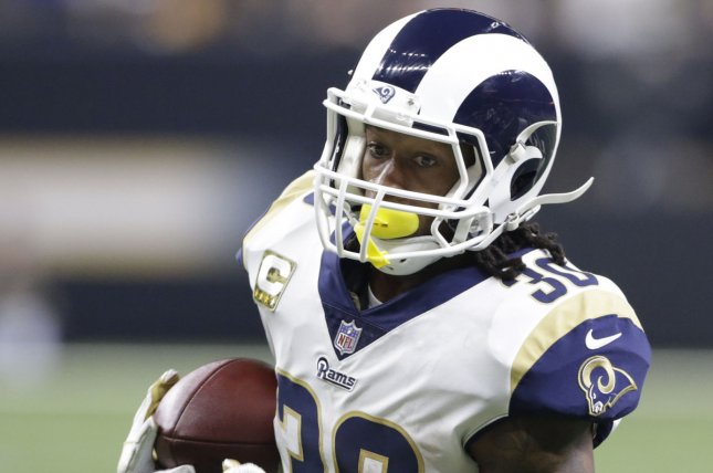 Los Angeles Rams running back Todd Gurley (30) had a season-low 28 rushing  yards in a loss to the Chicago Bears on Sunday at Solider Field in Chicago. a857e975f