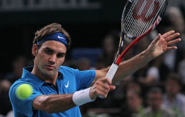 Roger Federer, shown in a tournament last November, was one of six seeded players to claim first-round wins Tuesday at the Dubai Duty Free Tennis Championships. UPI/David Silpa