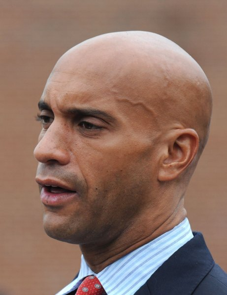 D.C. Mayor Adrian Fenty trailed his Democratic challenger by 13 points as early voting began 15 days in advance of Tuesday's primary. UPI/Kevin Dietsch