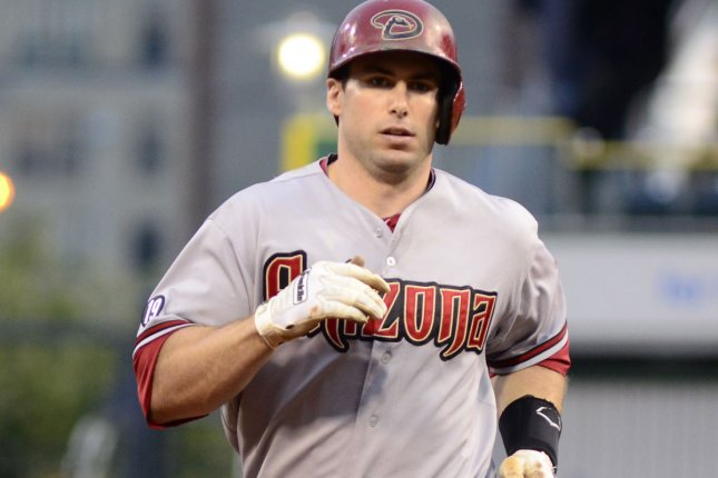 Arizona Diamondbacks Paul Goldschmidt rounds third base after hitting a three run homer in the top of the ninth inning in the 15-5 victory against the Pittsburgh Pirates at PNC Park in Pittsburgh, on August 17, 2013. UPI/Archie Carpenter