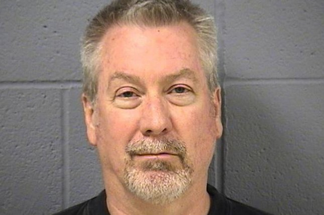 Drew Peterson, pictured here in a booking photo by the Will County Sheriff's Office, was convicted Tuesday of engaging in a murder-for-hire plot to kill the prosecutor who sent him to prison in 2012 for his wife's death. Peterson was prosecuted for the woman's 2004 drowning after his subsequent wife, Stacy Peterson, disappeared in 2007. Photo courtesy Will County Sheriff's Department